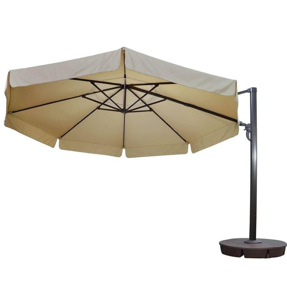 Patio Umbrellas With Valance Regarding Most Recent Island Umbrella Victoria 13 Ft. Octagonal Cantilever With Valance (Gallery 11 of 20)