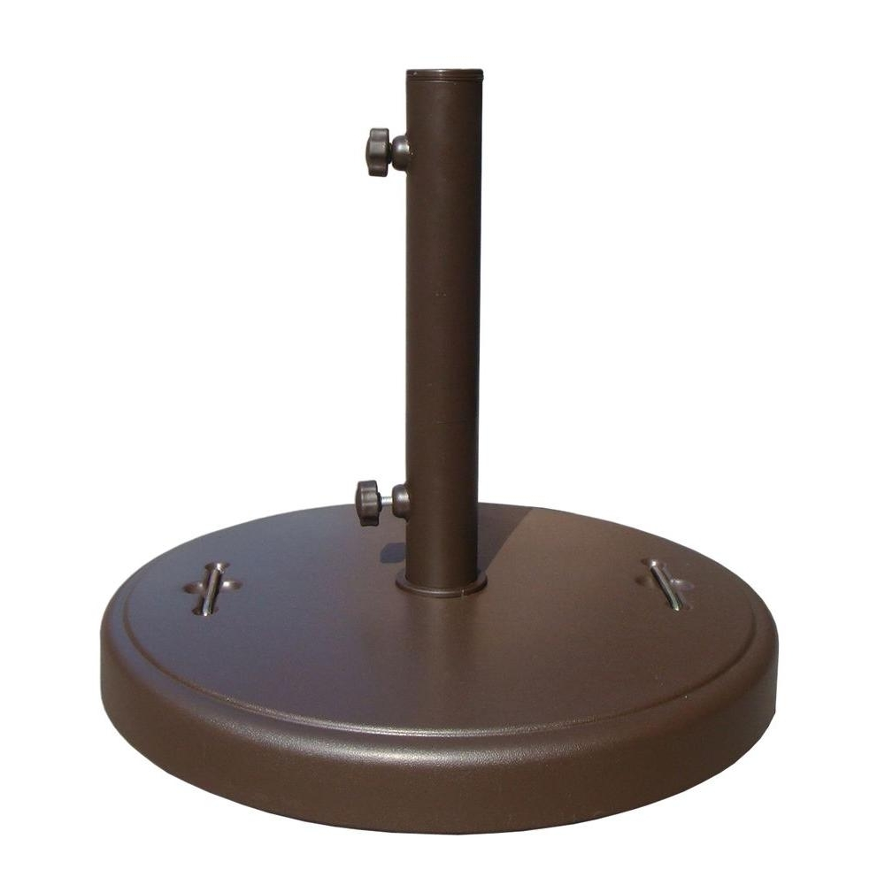 Patio Umbrellas With Wheels Regarding Well Known Patio Umbrella Stands & Bases – Patio Umbrellas – The Home Depot (View 13 of 20)