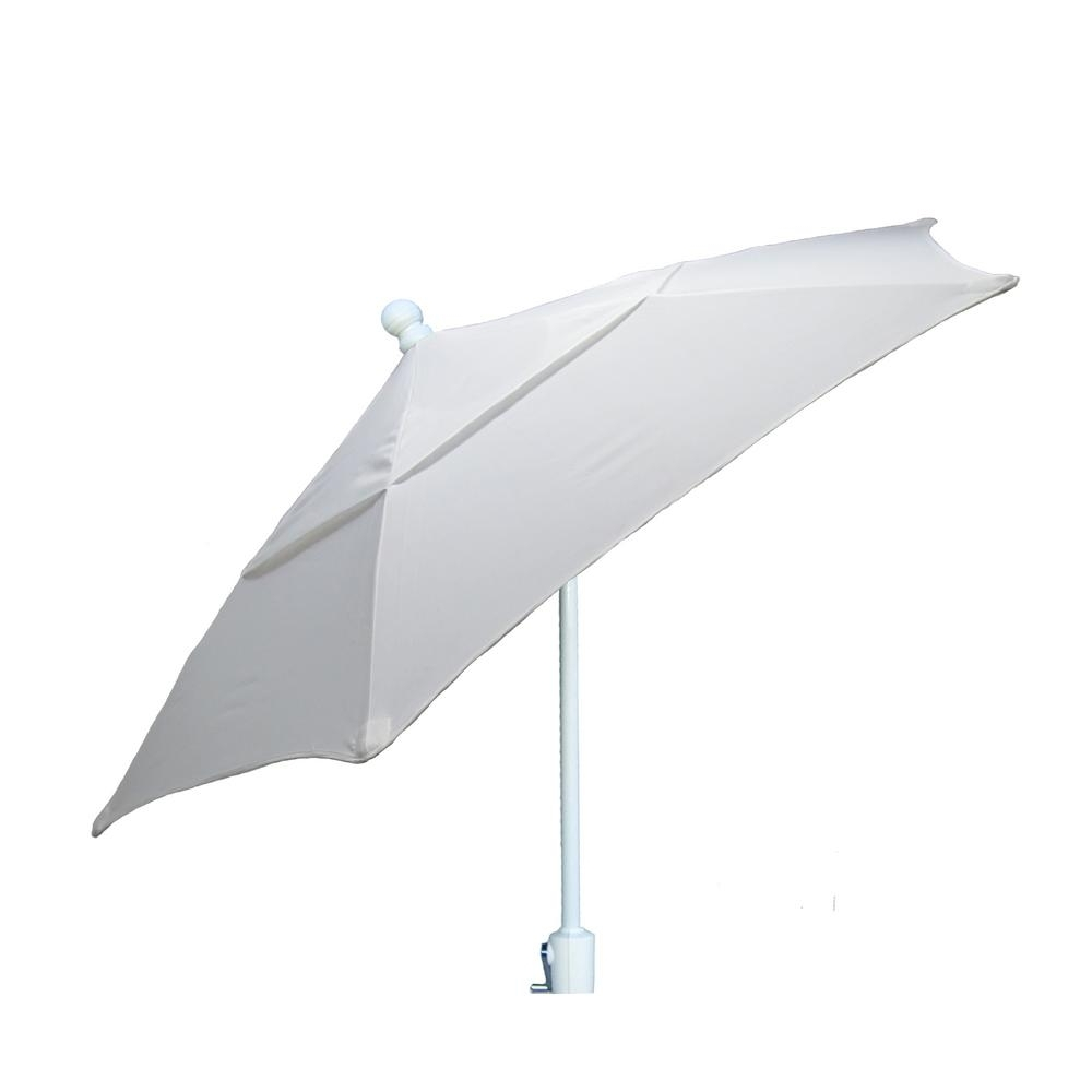 Patio Umbrellas With White Pole Pertaining To Well Known 7.5 Ft. Terrace Patio Umbrella With White Pole Tilt In Natural 7Tcrw (Gallery 4 of 20)