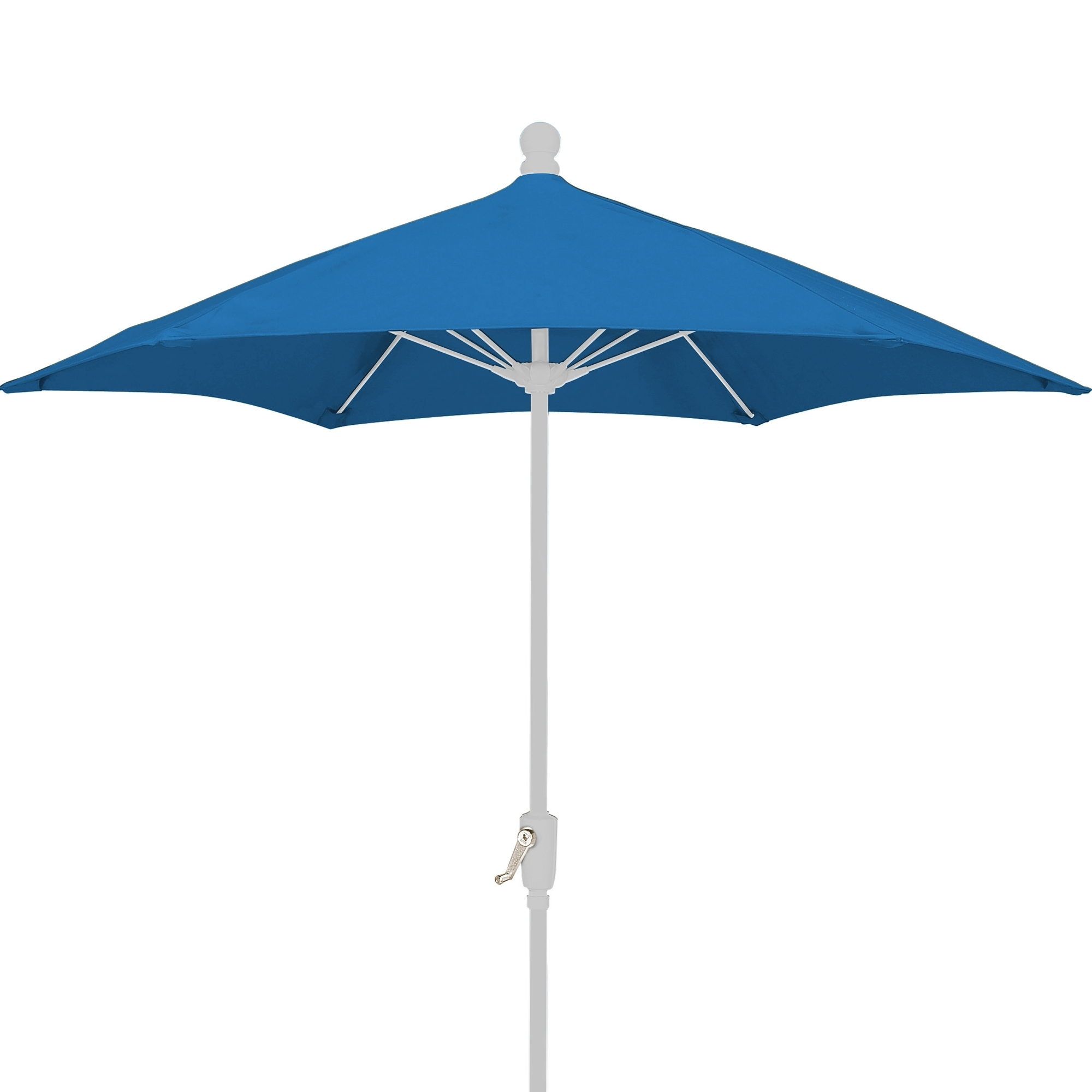 Patio Umbrellas With White Pole Regarding Well Liked 7.5 Ft Crank Lift Market Style Patio Umbrella With White Pole (Gallery 6 of 20)