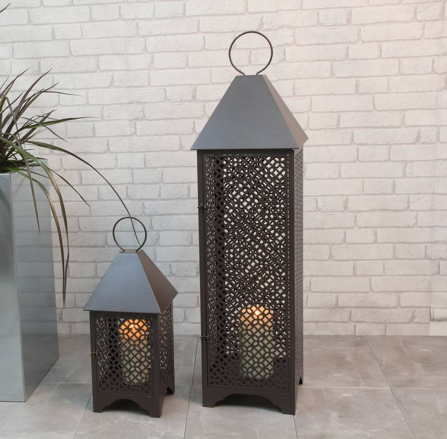 Personalised Patterned Metal Garden Lanternprecious Design Pertaining To Widely Used Moroccan Outdoor Lanterns (Gallery 8 of 20)