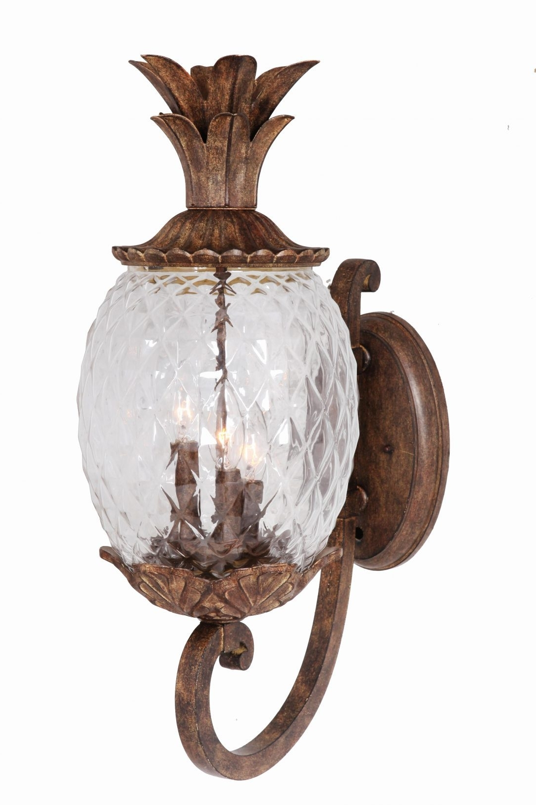 Pineapple Lamp Post Light Furniture Four Different Types Outdoor Regarding Famous Outdoor Pineapple Lanterns (Gallery 18 of 20)