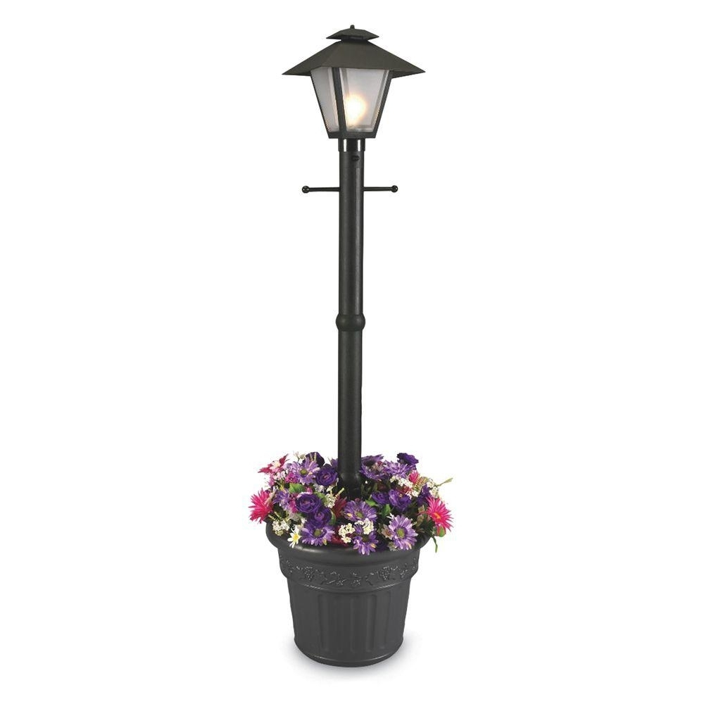 Plug In Outdoor Lanterns With Regard To Fashionable Patio Living Concepts Cape Cod Plug In Outdoor Black Post Lantern (View 13 of 20)