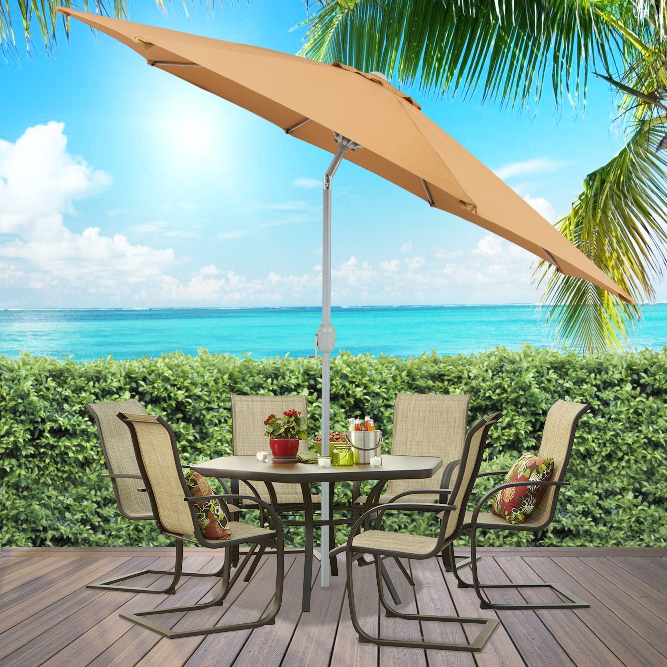 Popular Commercial Patio Umbrellas Within Commercial Patio Umbrellas Lovely Double Fset Red Multi Vent Mercial (View 17 of 20)