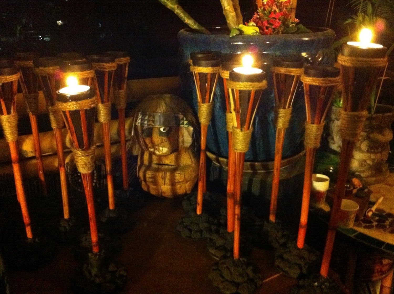 Popular How Outdoor Torches Can Adorn Your Luau Party — Life On The Move Inside Outdoor Tiki Lanterns (View 7 of 20)