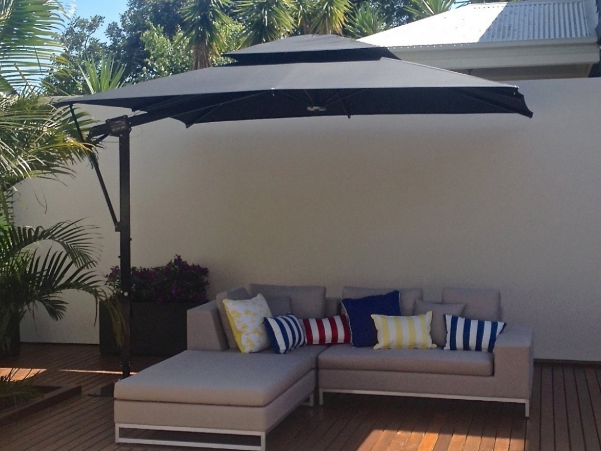 Popular Impressive Offset Rectangular Patio Umbrella Large Umbrellas For Inside Rectangular Patio Umbrellas (View 9 of 20)
