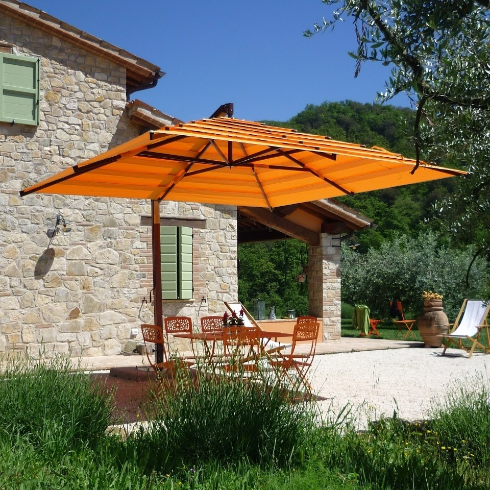 Popular Offset Patio Umbrellas — Wilson Home Ideas : Outdoor Offset Intended For 2019 Upscale Patio Umbrellas (View 18 of 20)