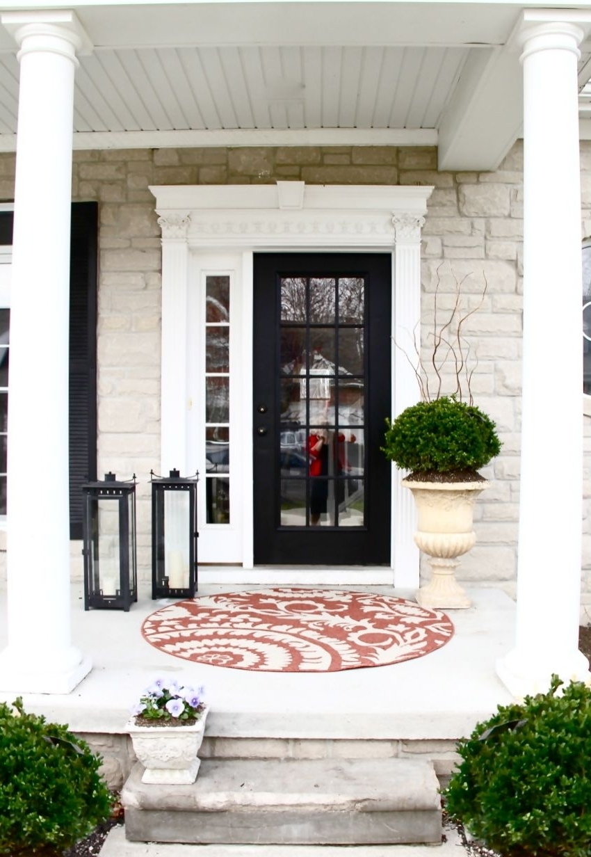 Popular Outdoor Lanterns For Front Door Within The Yellow Cape Cod: {How To} Create A Low Maintenance High Style (View 20 of 20)