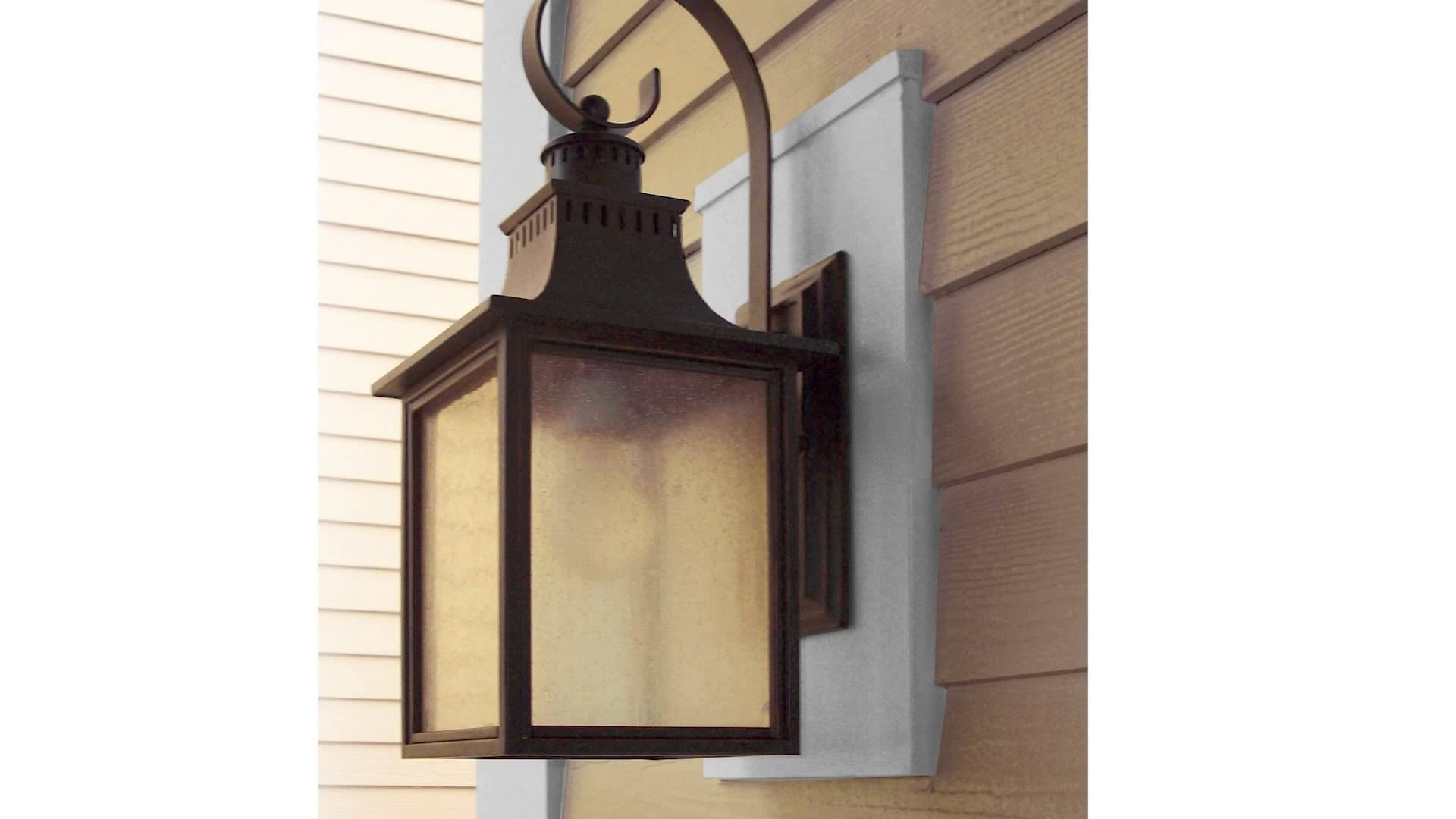 Popular Outdoor Mounted Lanterns Pertaining To Sturdimount Fiber Cement Mounting Blocks – Youtube (View 12 of 20)