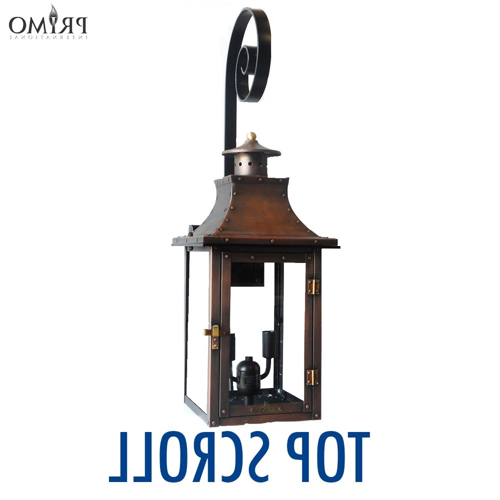 Popular Outdoor Propane Lanterns Inside Royal Gas Or Electric Copper Lanternprimo – French Market Lanterns (View 13 of 20)
