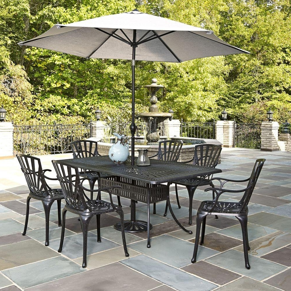 Popular Patio Sets With Umbrellas Within Tempered Glass Patio Table Full Size Of Patioswayfair Furniture (View 10 of 20)
