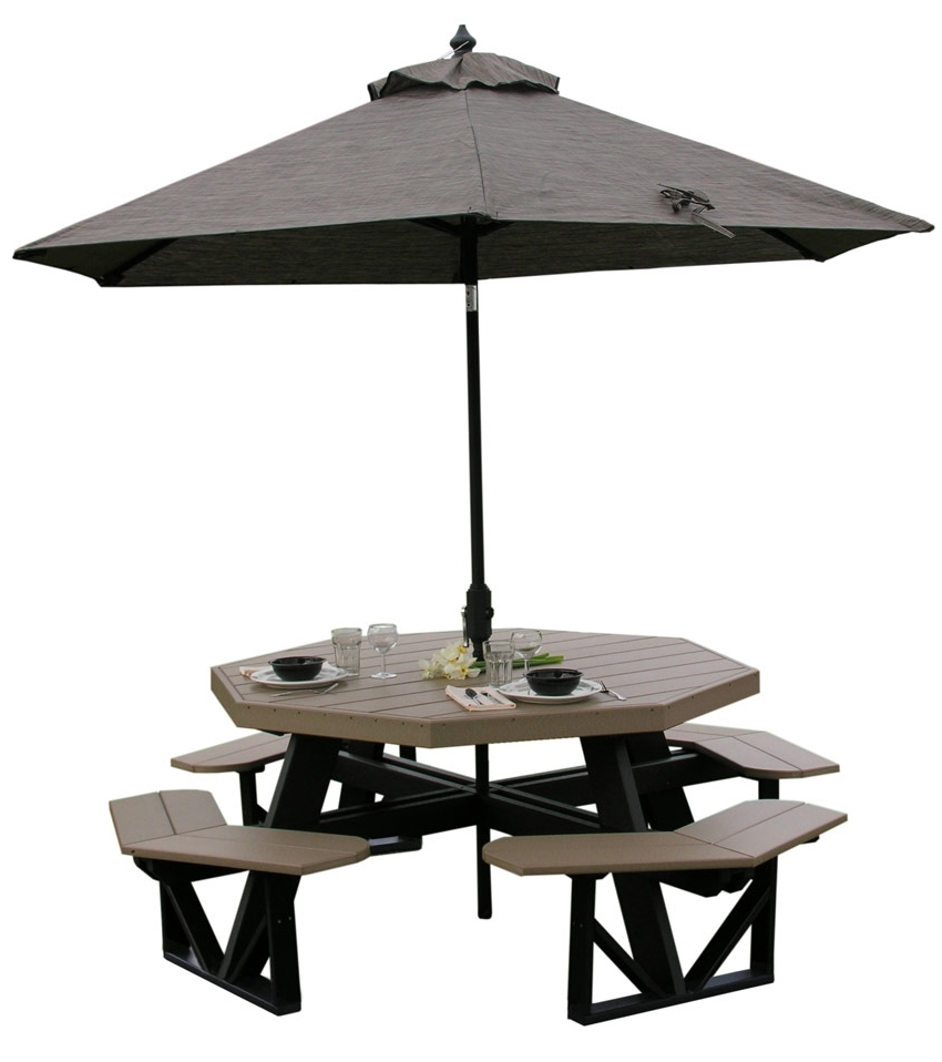Popular Patio Table: Patio Table Umbrella Tablecloth Best Patio Table In Patio Tables With Umbrella Hole (View 17 of 20)
