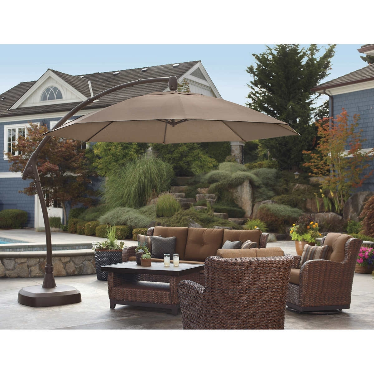 Popular Patio Umbrellas At Costco Canada – Patio Ideas Inside Sunbrella Patio Umbrellas At Costco (View 4 of 20)