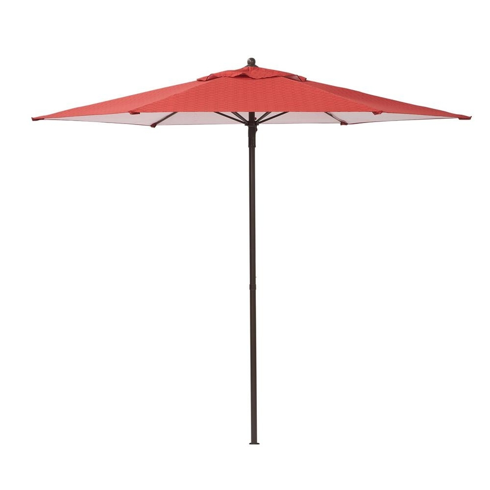 Popular Patio Umbrellas At Home Depot Intended For Hampton Bay 7 1/2 Ft (View 6 of 20)