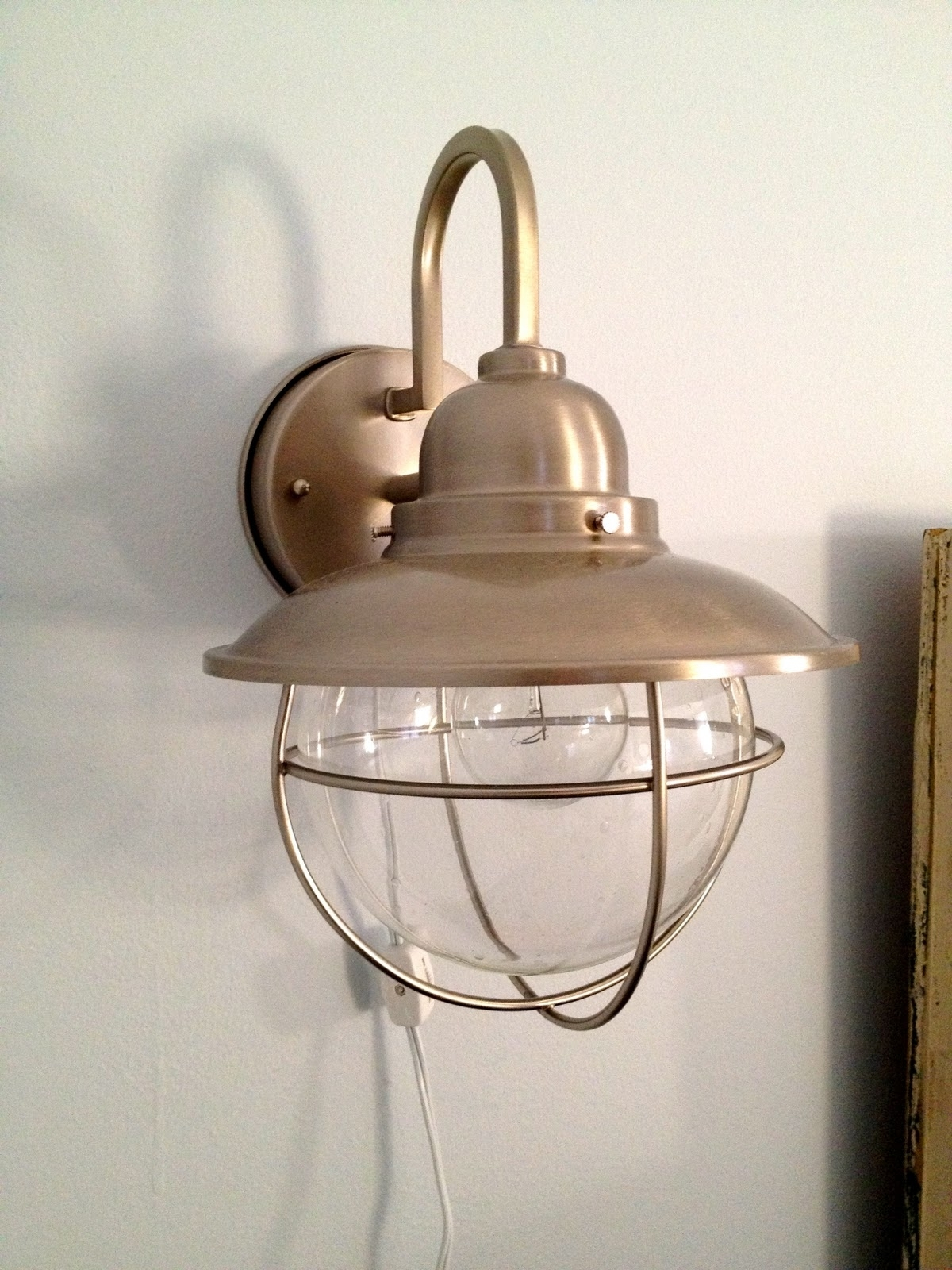 Popular Plug In Outdoor Lanterns With Nautical Outdoor Porch Lights Lighting Home Depot Exterior Wall  (View 16 of 20)