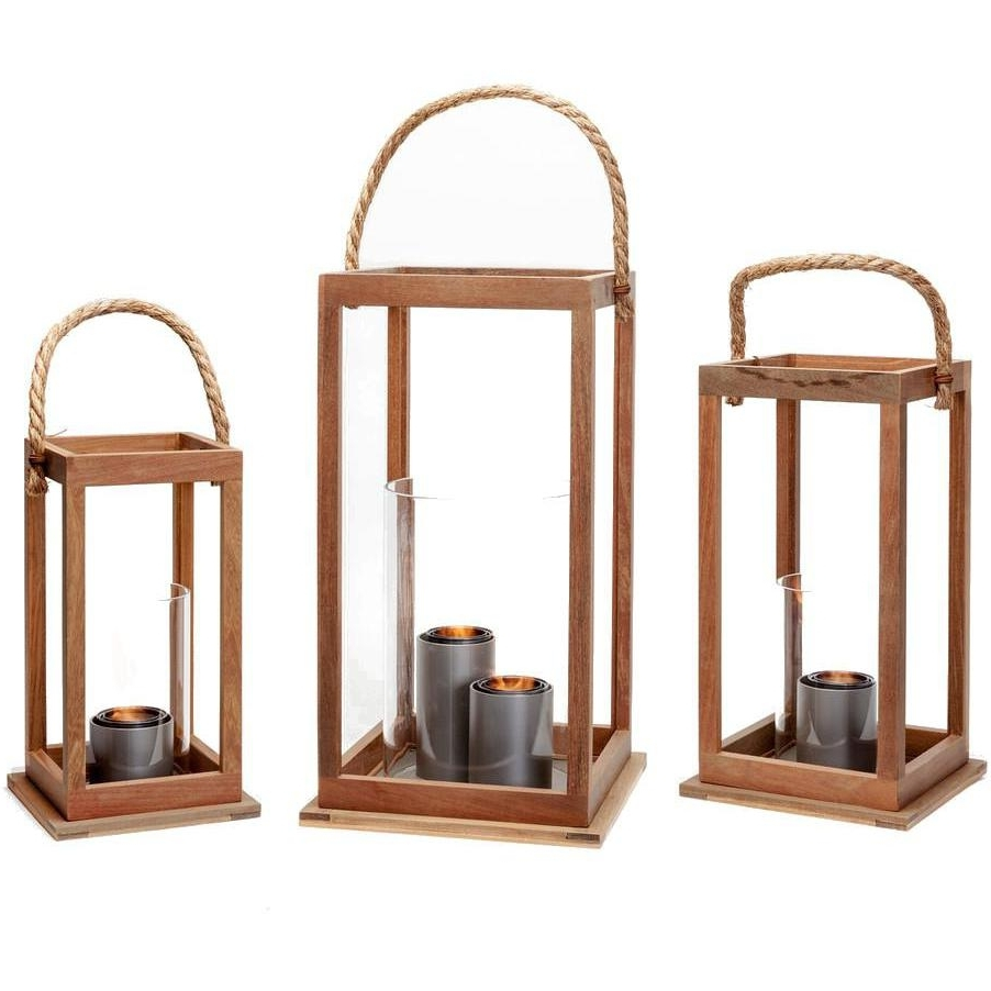 Popular Terra Flame Sonoma 21 Inch Gel Lantern – Ipe Wood : Ultimate Patio Within Outdoor Gel Lanterns (Gallery 6 of 20)