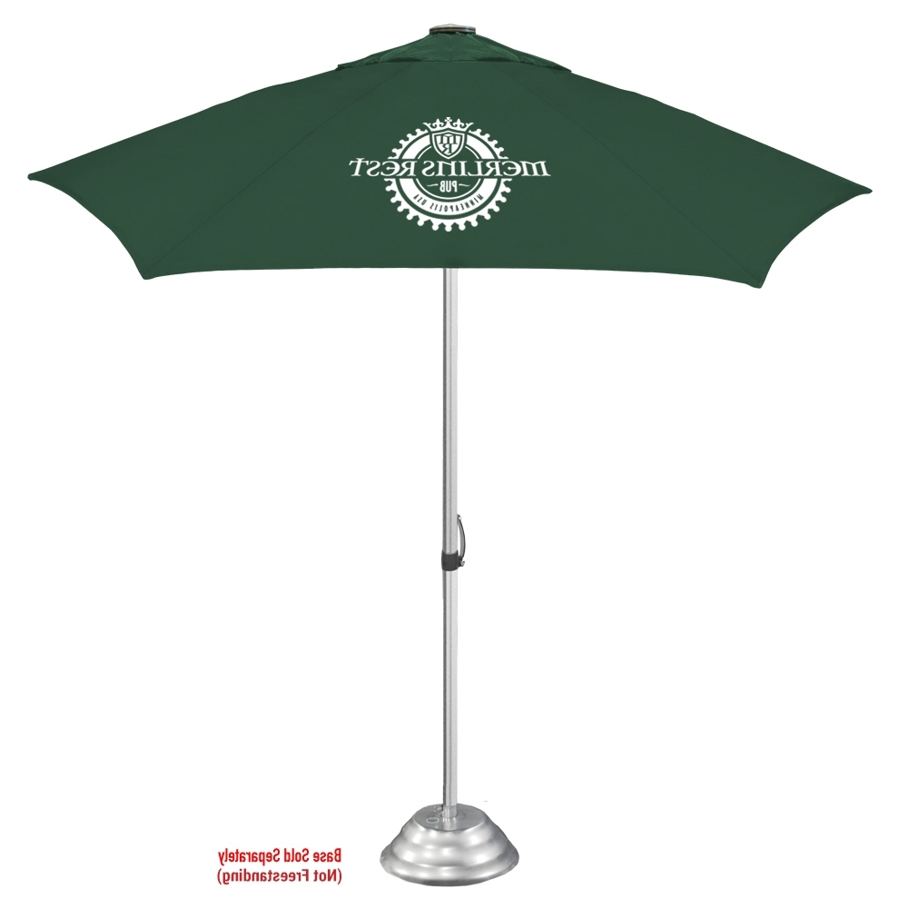 Popular The Vented Cafe Market Umbrella In Vented Patio Umbrellas (View 10 of 20)
