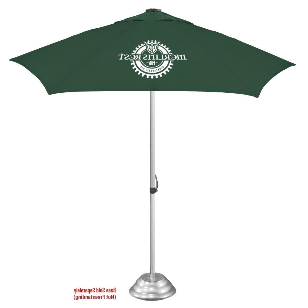 Popular The Vented Cafe Market Umbrella In Vented Patio Umbrellas (View 17 of 20)