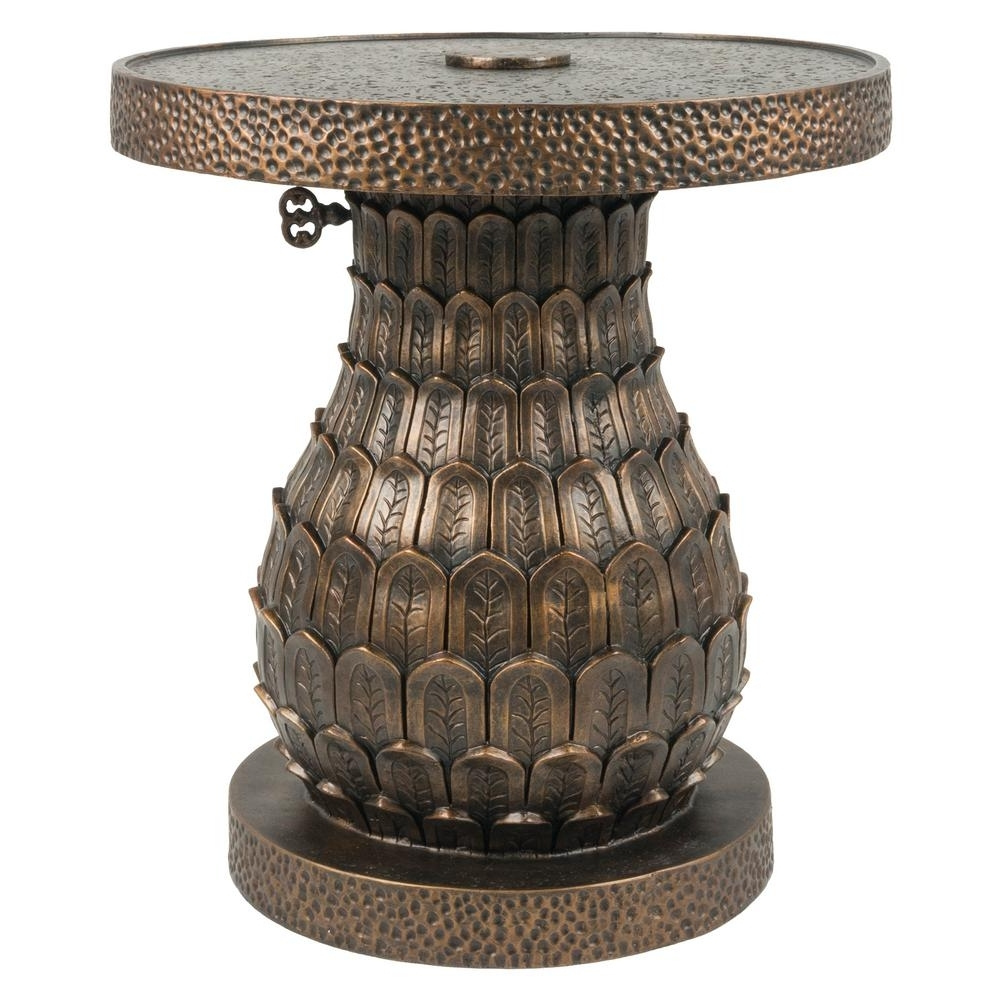 Preferred Bombay Outdoors Pineapple Patio Umbrella Base In Distressed Gold With Patio Umbrellas And Bases (View 20 of 20)