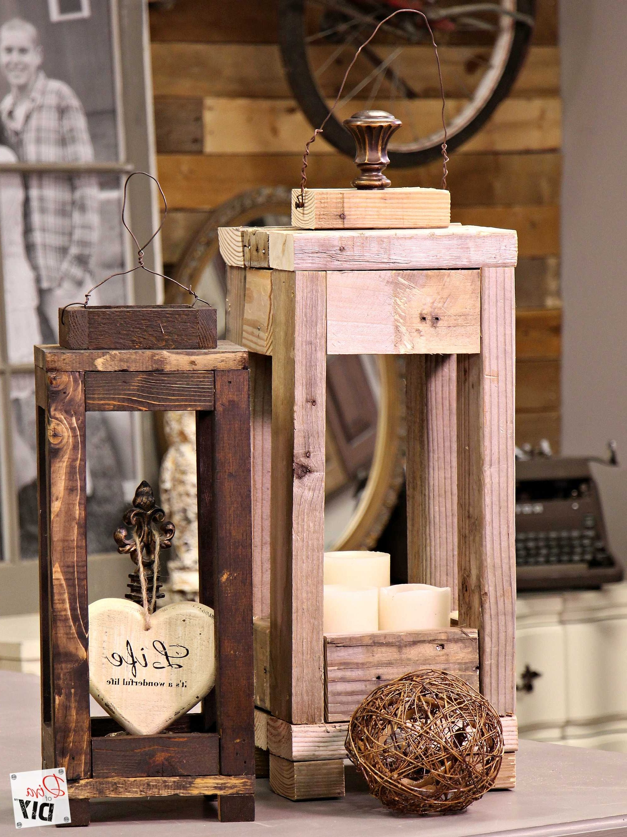 Preferred Outdoor Decorative Lanterns Inside Easy Outdoor Decor: How To Make Lanterns From Scrap Wood (Gallery 14 of 20)