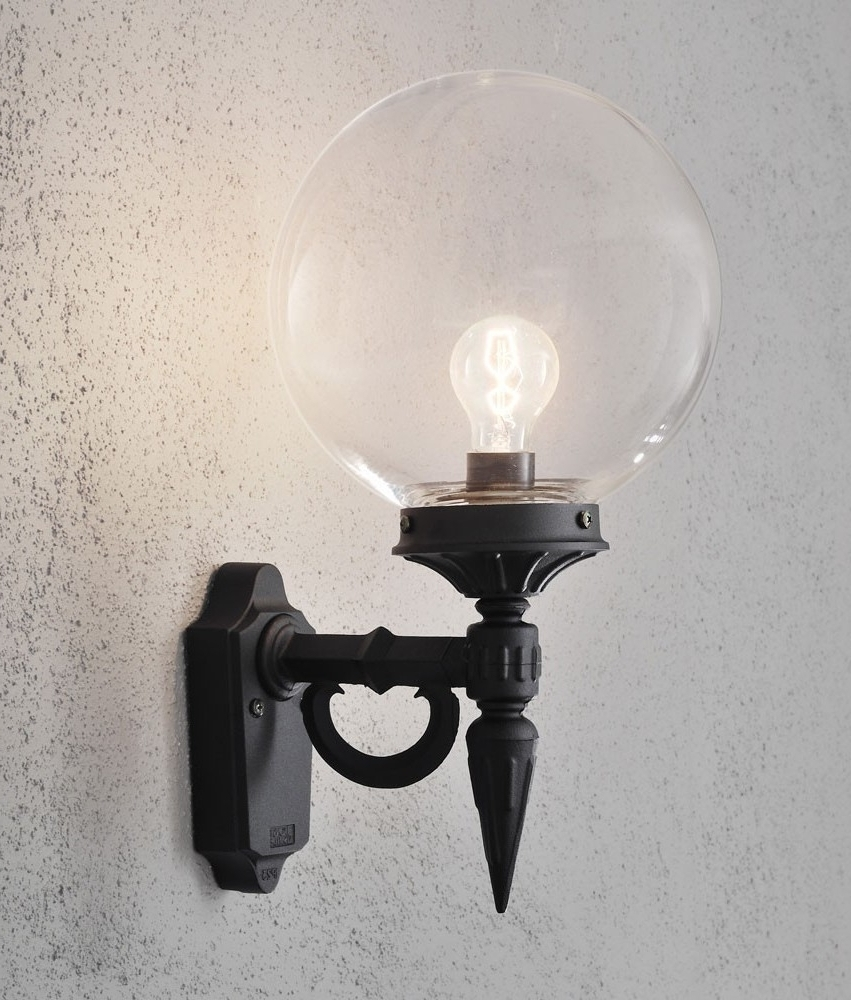 Preferred Outdoor Empty Lanterns For Clear Glass Globe Shade Outdoor Wall Light (View 15 of 20)