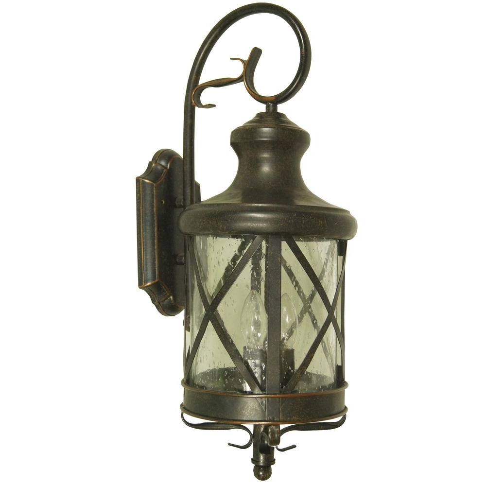 Preferred Outdoor Lanterns Decors Pertaining To Y Decor Taysom 2 Light Oil Rubbed Bronze Outdoor Wall Mount Lantern (View 17 of 20)