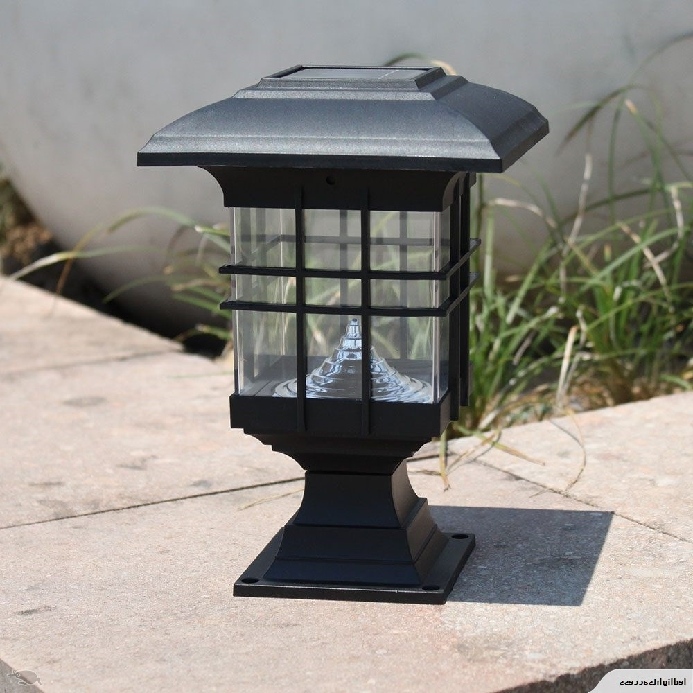 Preferred Outdoor Lawn Lanterns In 2Pcs Solar Courtyard Lamp Led Solar Street Lamp Wall Headlamp (View 15 of 20)