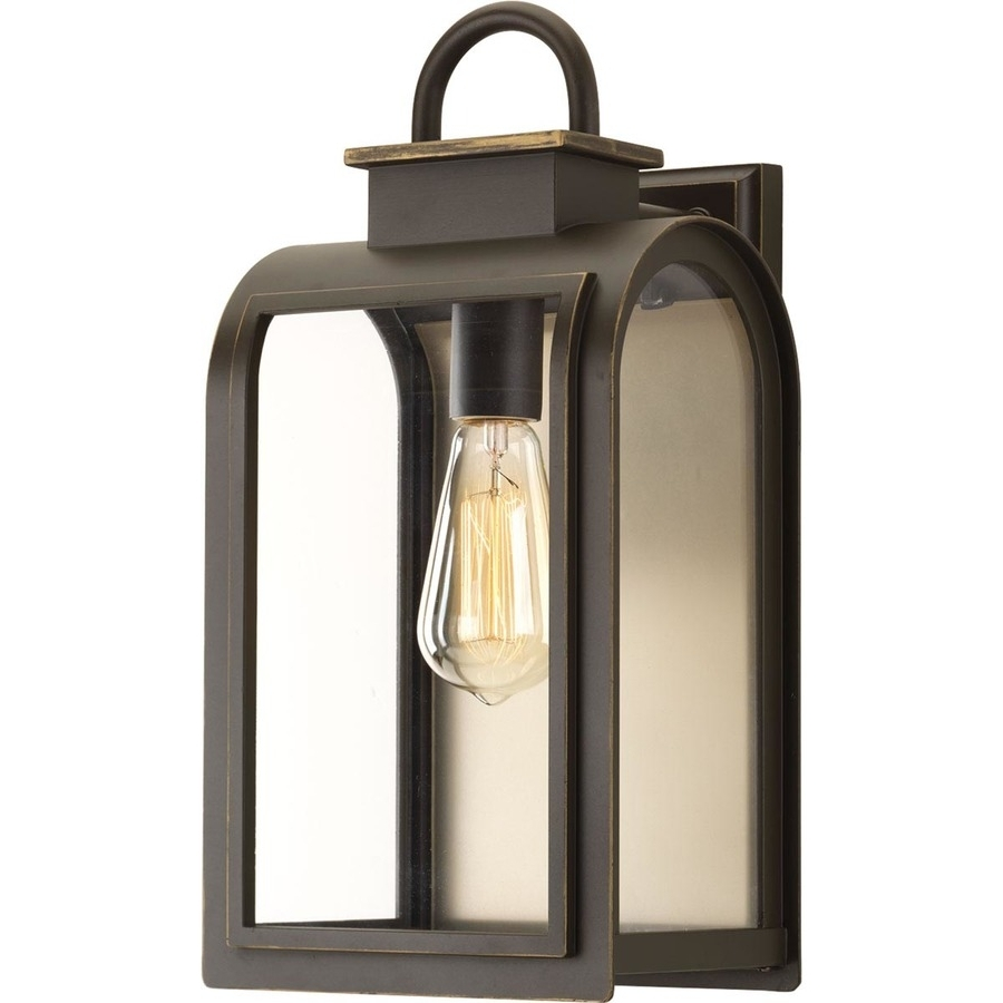 Preferred Outdoor Oil Lanterns Throughout Shop Progress Lighting Refuge 16 In H Oil Rubbed Bronze Outdoor Wall (View 14 of 20)