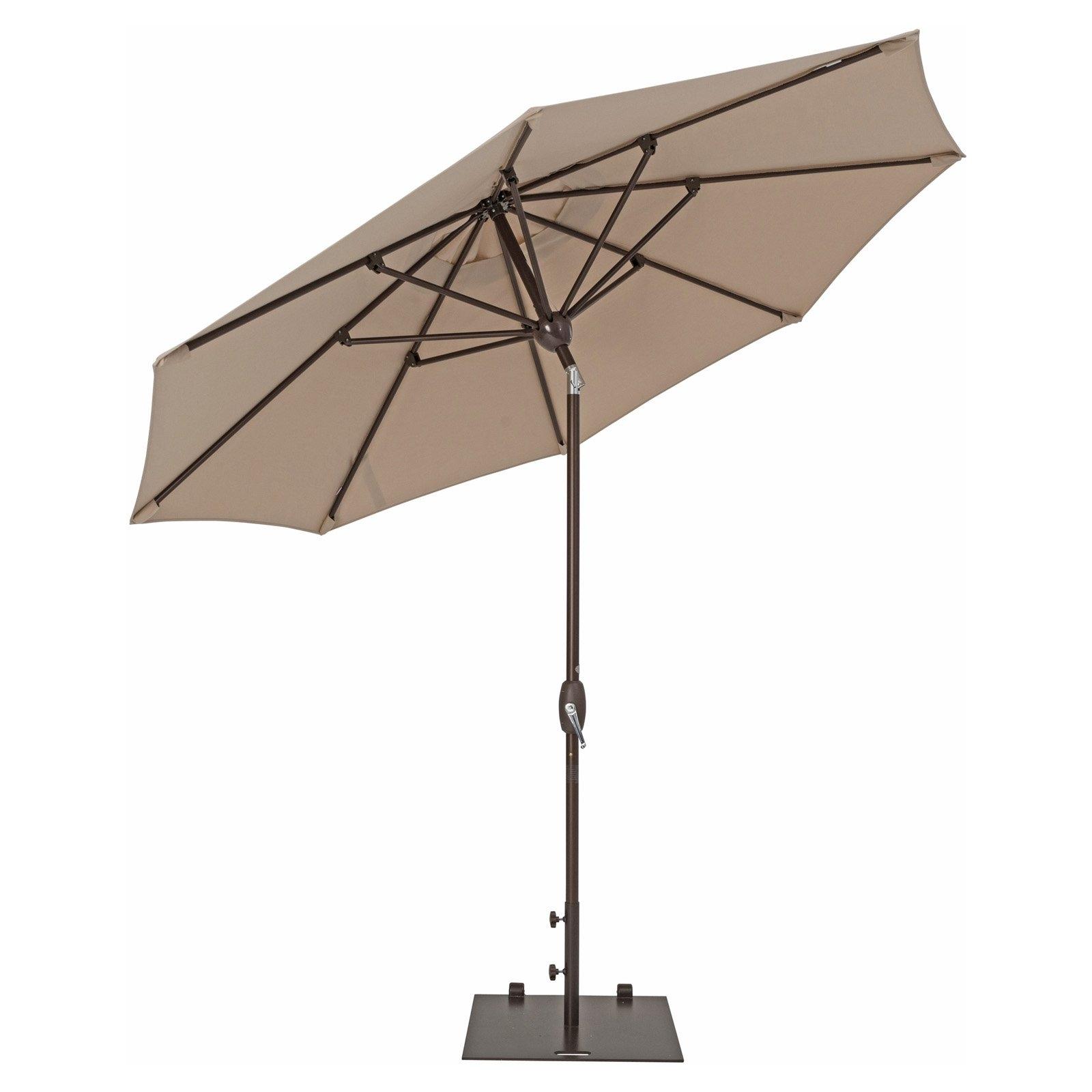 Preferred Patio Umbrellas With Sunbrella Fabric Regarding Trueshade Plus 9' Market Umbrella With Sunbrella Fabric, Auto Tilt (View 10 of 20)