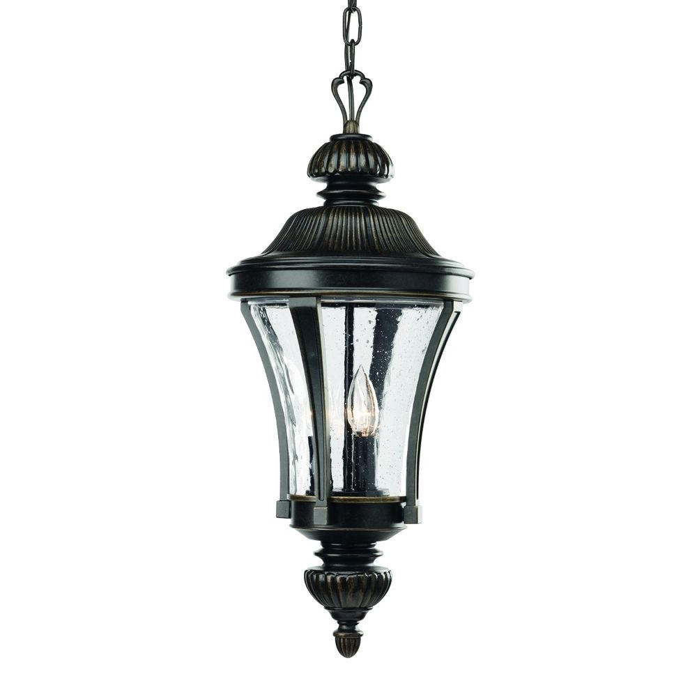 Preferred Xl Outdoor Lanterns Pertaining To Progress Lighting Nottington Collection 3 Light Forged Bronze (View 3 of 20)