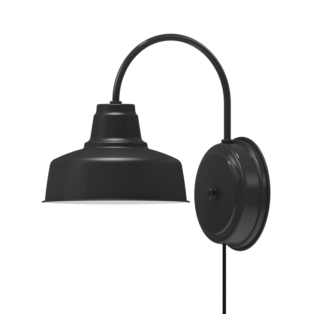 Probably Super Amazing Black Wall Sconce Plug In Images : Becky Robinson Regarding Well Liked Plug In Outdoor Lanterns (View 8 of 20)
