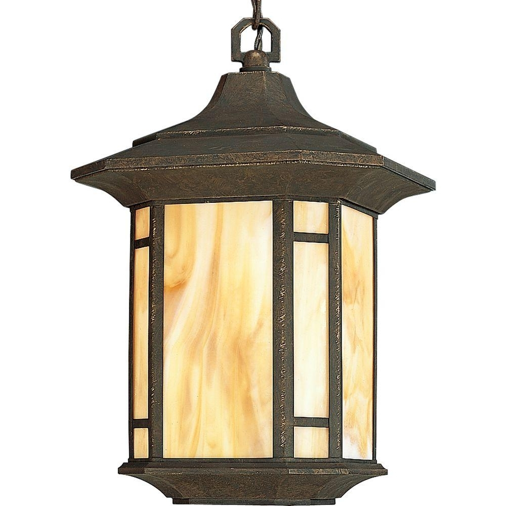 Progress Lighting Arts And Crafts Collection Weathered Bronze Intended For Well Known Outdoor Pendant Lanterns (View 7 of 20)