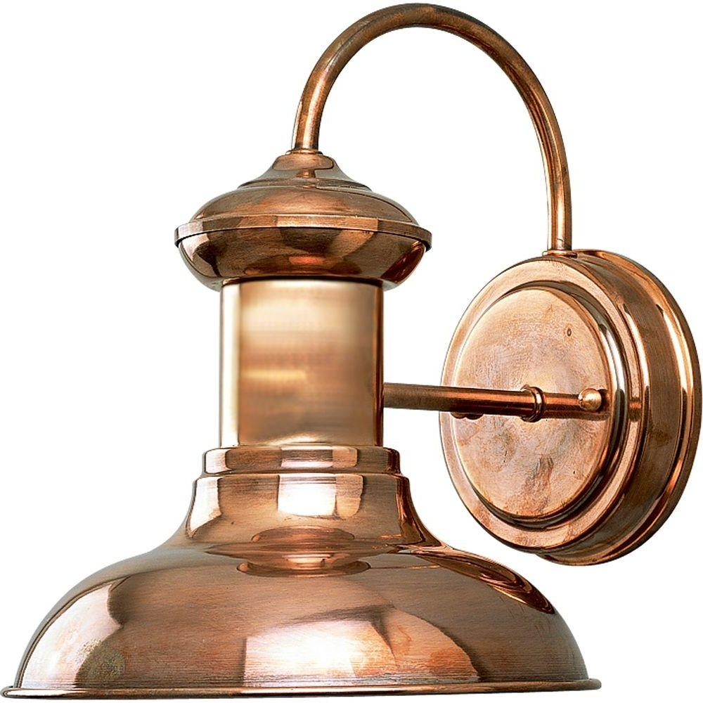 Progress Lighting Brookside Collection 1 Light Small Copper Outdoor Within Latest Copper Outdoor Lanterns (Gallery 1 of 20)