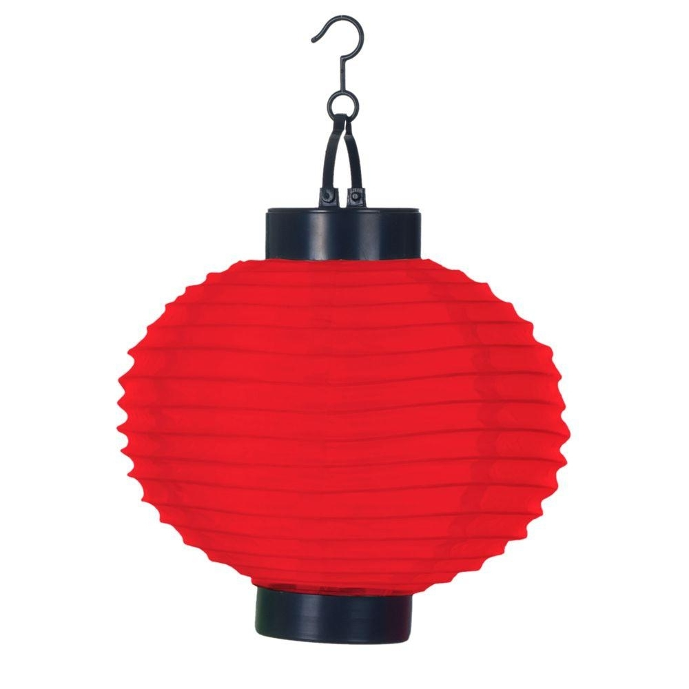 Pure Garden 4 Light Red Outdoor Led Solar Chinese Lantern 50 19 R Intended For Well Known Outdoor Orange Lanterns (View 2 of 20)