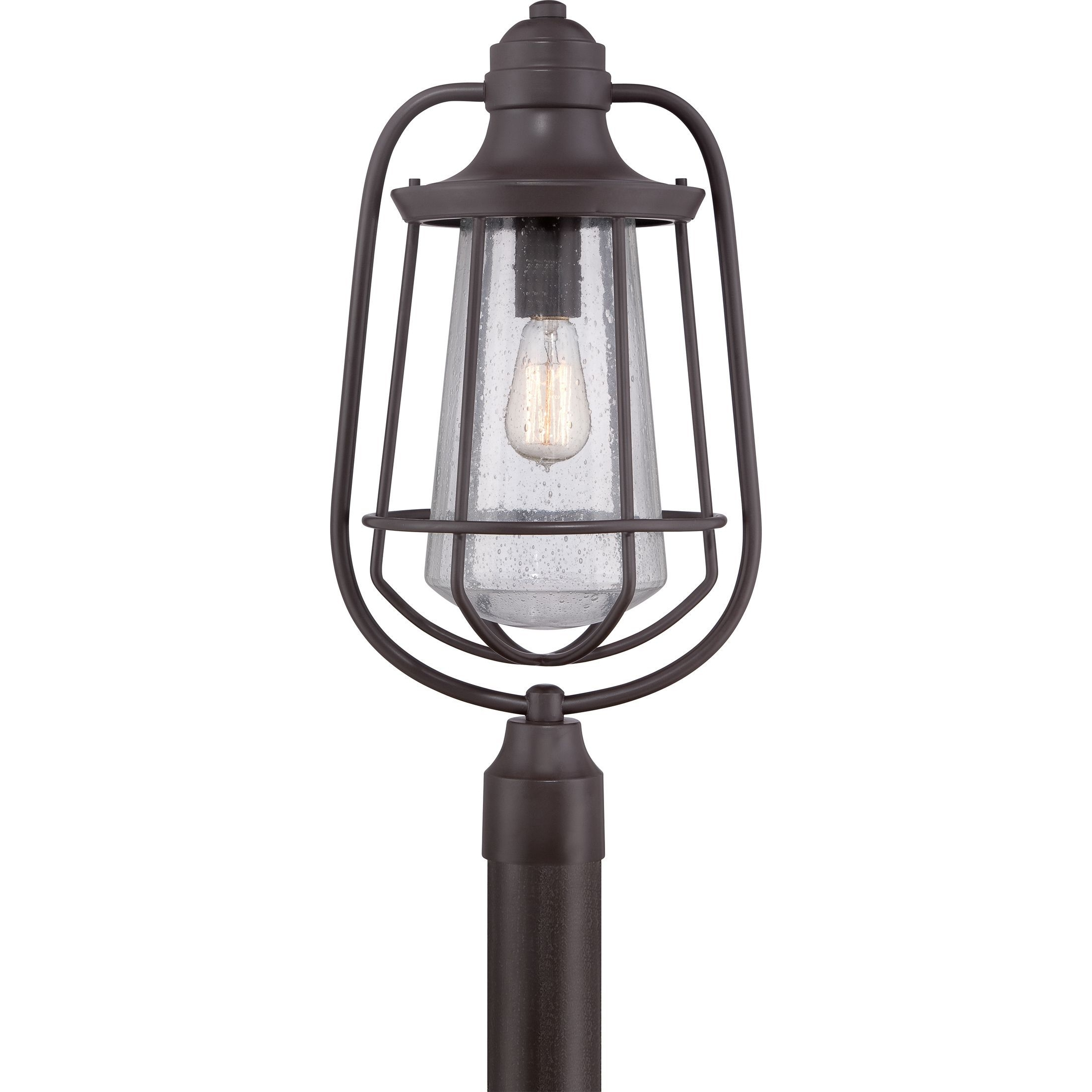 Quoizel 1 Light Marine Western Bronze Large Post Lantern (Western With Current Outdoor Lanterns On Post (Gallery 13 of 20)