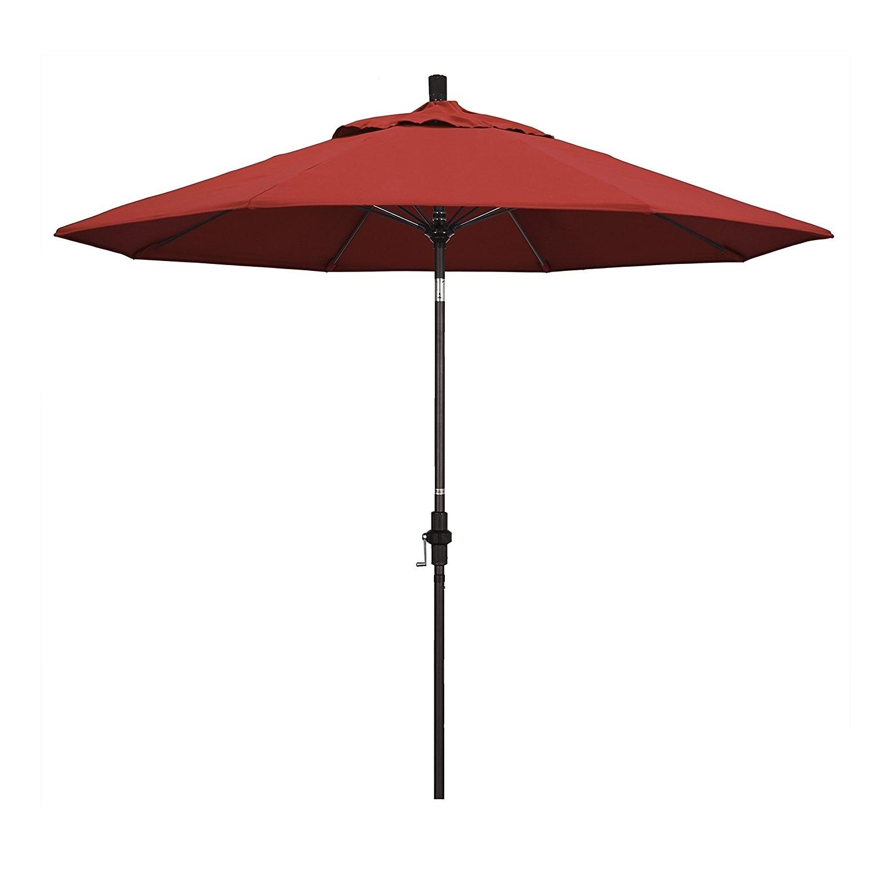 Recent Amazon Patio Umbrellas Within Outdoor & Garden: Amazon Com California Umbrella 9' Round Aluminum (Gallery 6 of 20)