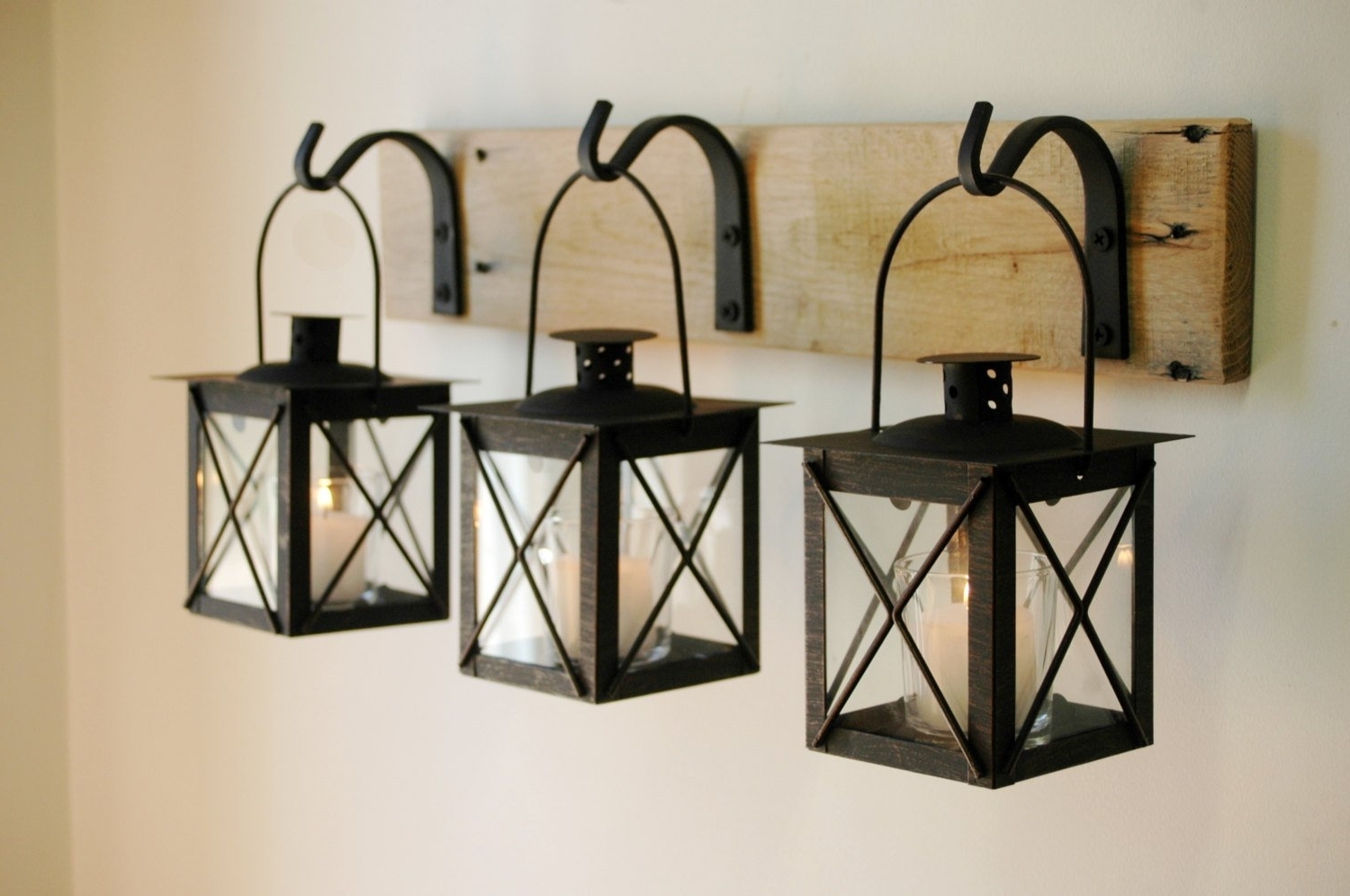 Recent Black Lantern Trio Wall Decor Home Decor Rustic Decor (View 13 of 20)