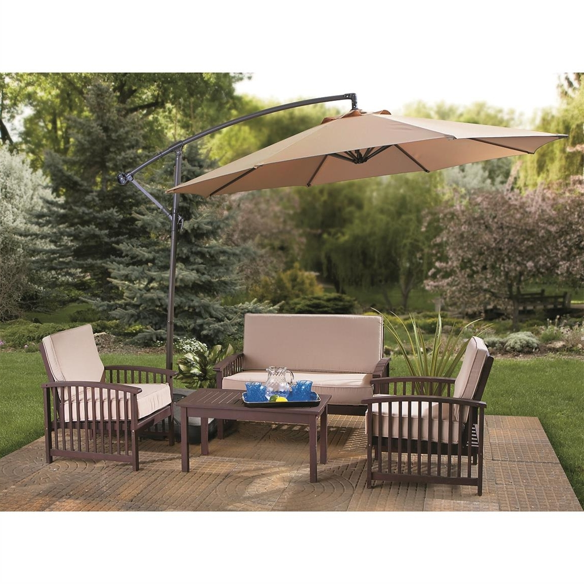 Recent Castlecreek 10' Cantilever Patio Umbrella – 234178, Patio Umbrellas With Regard To Expensive Patio Umbrellas (View 12 of 20)