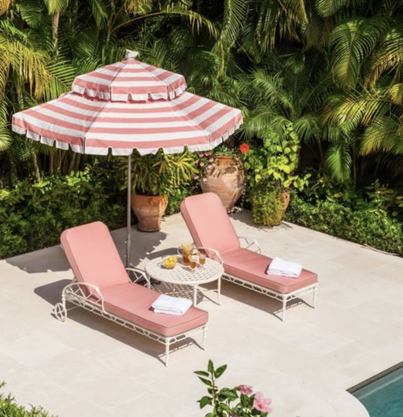 Recent Color Crush – Pink Patio – Ch Design Co. With Regard To Patio Umbrellas With Fringe (Gallery 18 of 20)