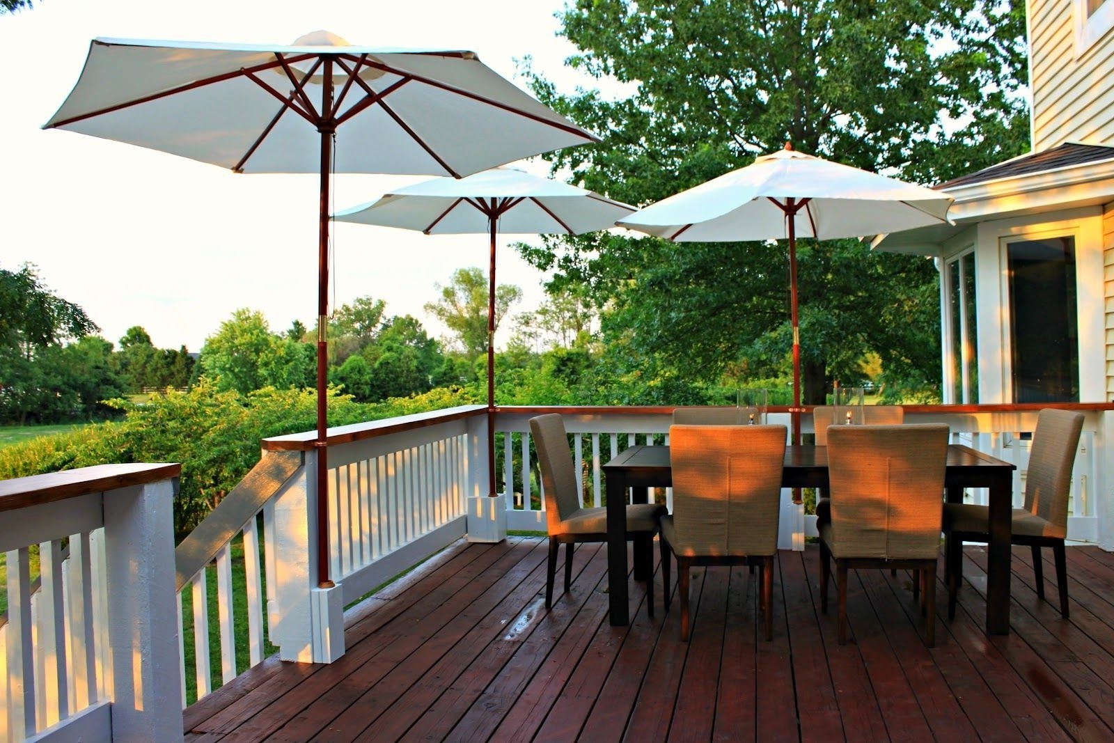 Recent Extended Patio Umbrellas For Image Result For How To Attach Patio Umbrella To Fence (Gallery 14 of 20)