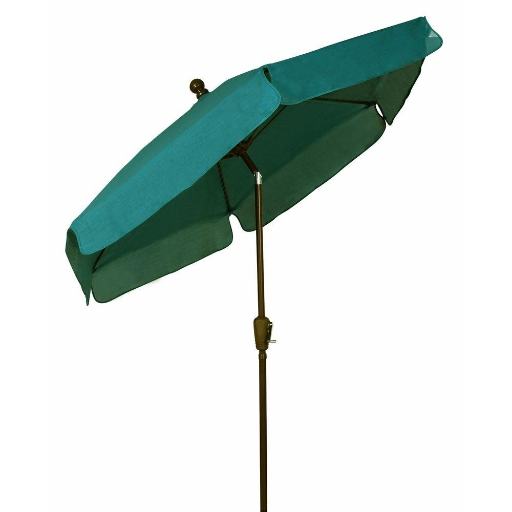 Recent Green Patio Umbrellas With Fiberbuilt Umbrellas 7.5 Ft. Patio Umbrella In Forest Green 7Gcrcb T (Gallery 6 of 20)