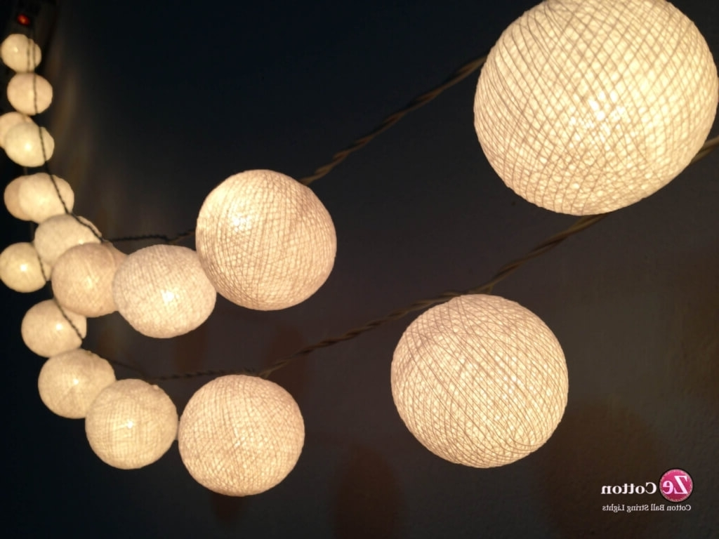 Recent Home Decoration: Exciting Ball Shaped Led Patio String Lights And In Outdoor Ball Lanterns (Gallery 9 of 20)