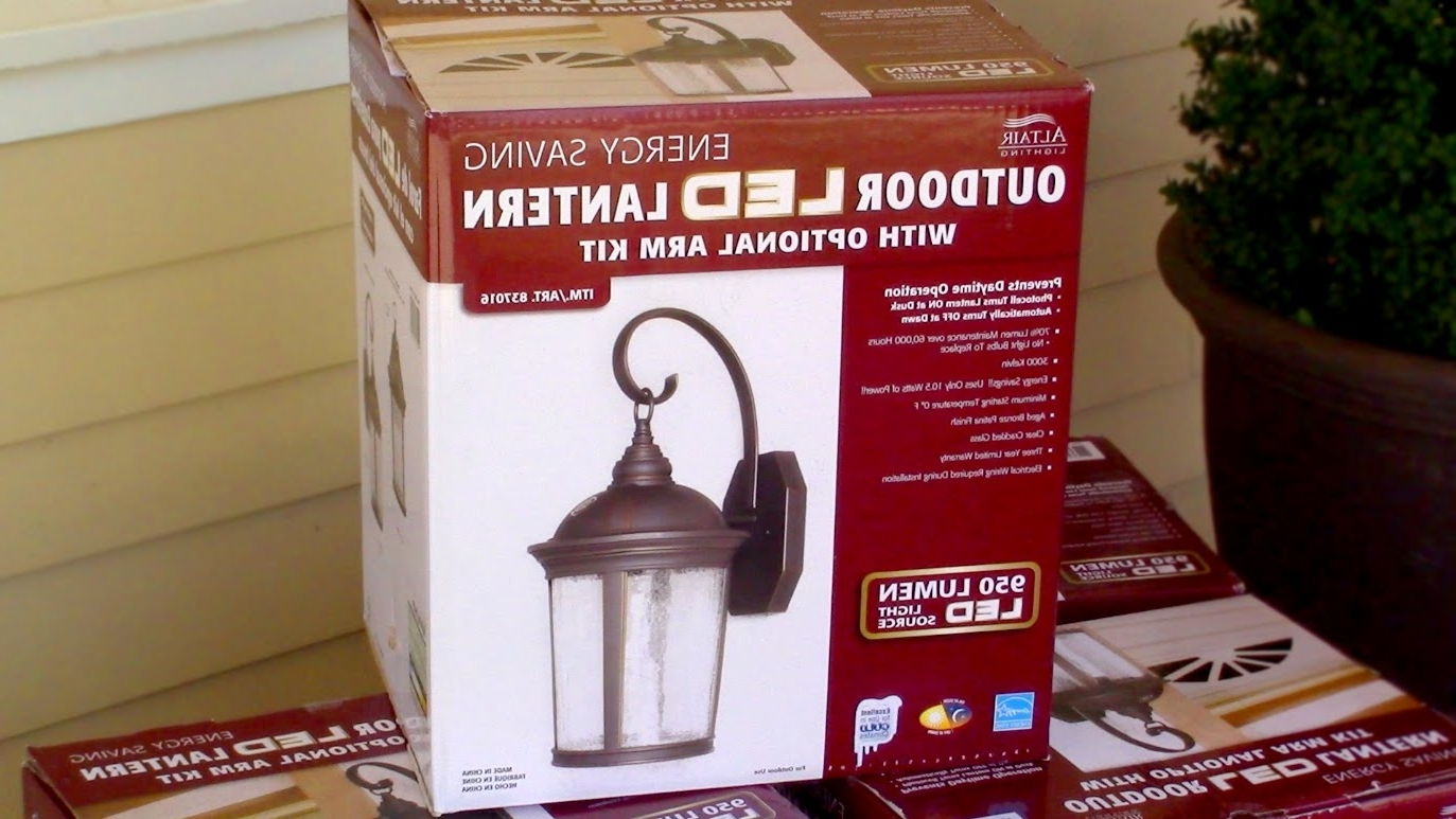 Recent How To Install Outdoor Light Fixture – Costco's Outdoor Led Porch Throughout Outdoor Lamp Lanterns (View 18 of 20)