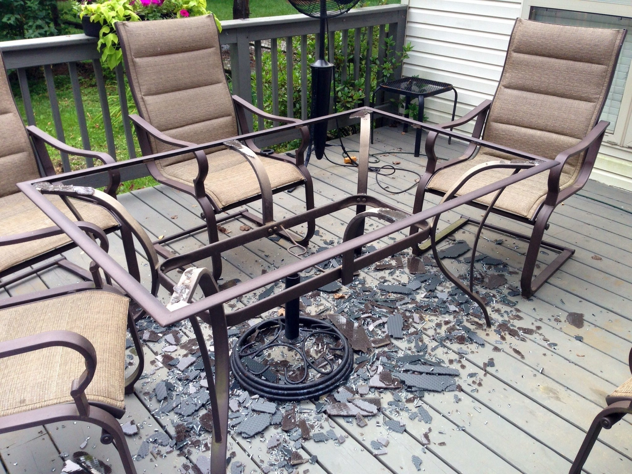 Recent Innovative Patio Table Glass Replacement Glass Table Top Patio Intended For Jewel Patio Umbrellas (View 14 of 20)