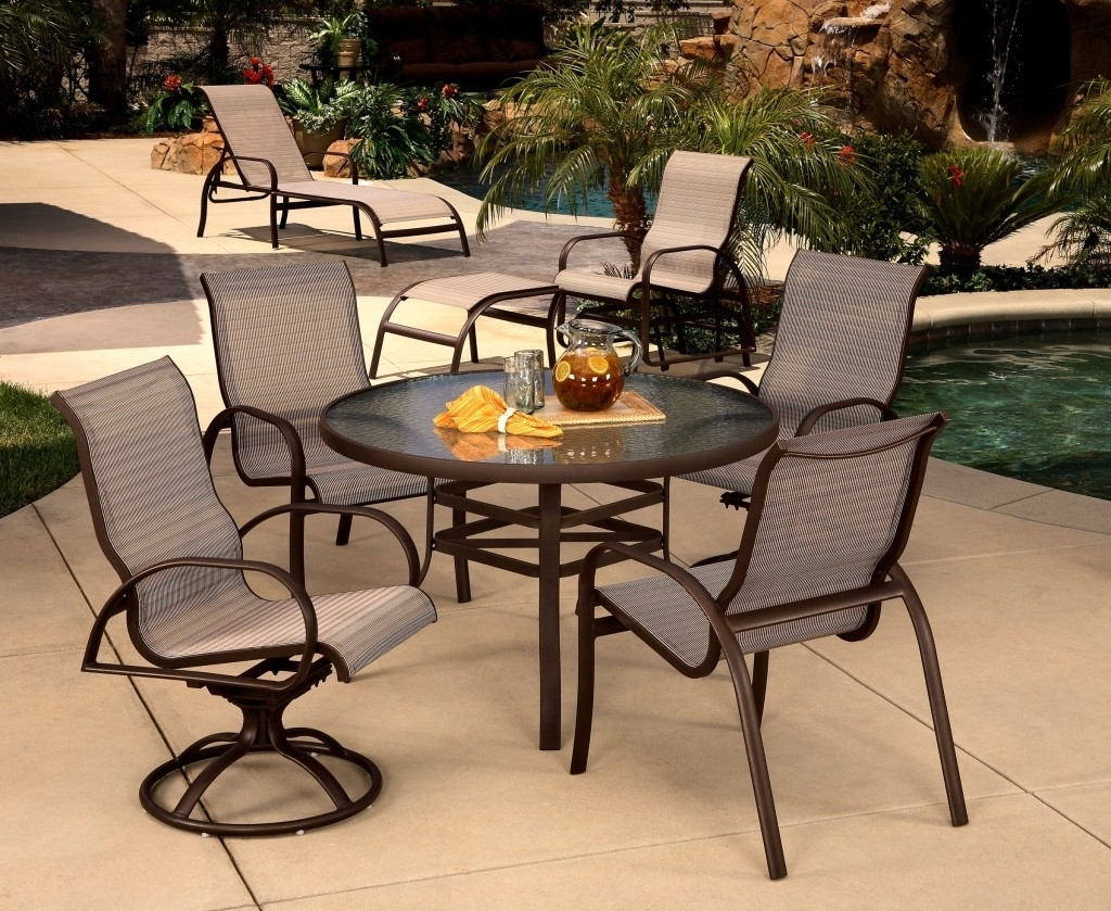 Recent Krevco Patio Umbrellas Within Mallin Horizon Sling Collection – Mallin Patio Furniture – Patio (View 4 of 20)