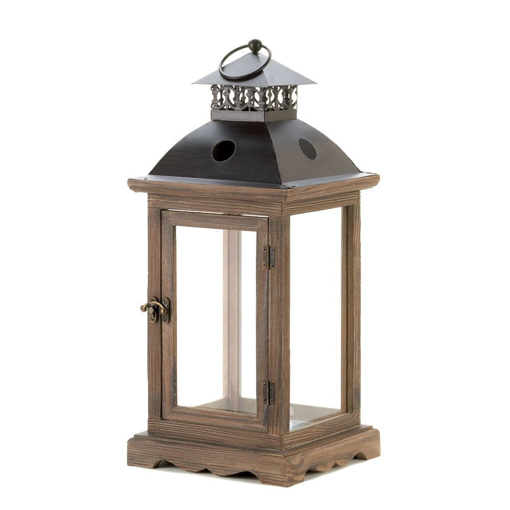 Recent Large Outdoor Decorative Lanterns In Candle Lantern Decorative Monticello Hanging Candle Lantern Holder (View 14 of 20)