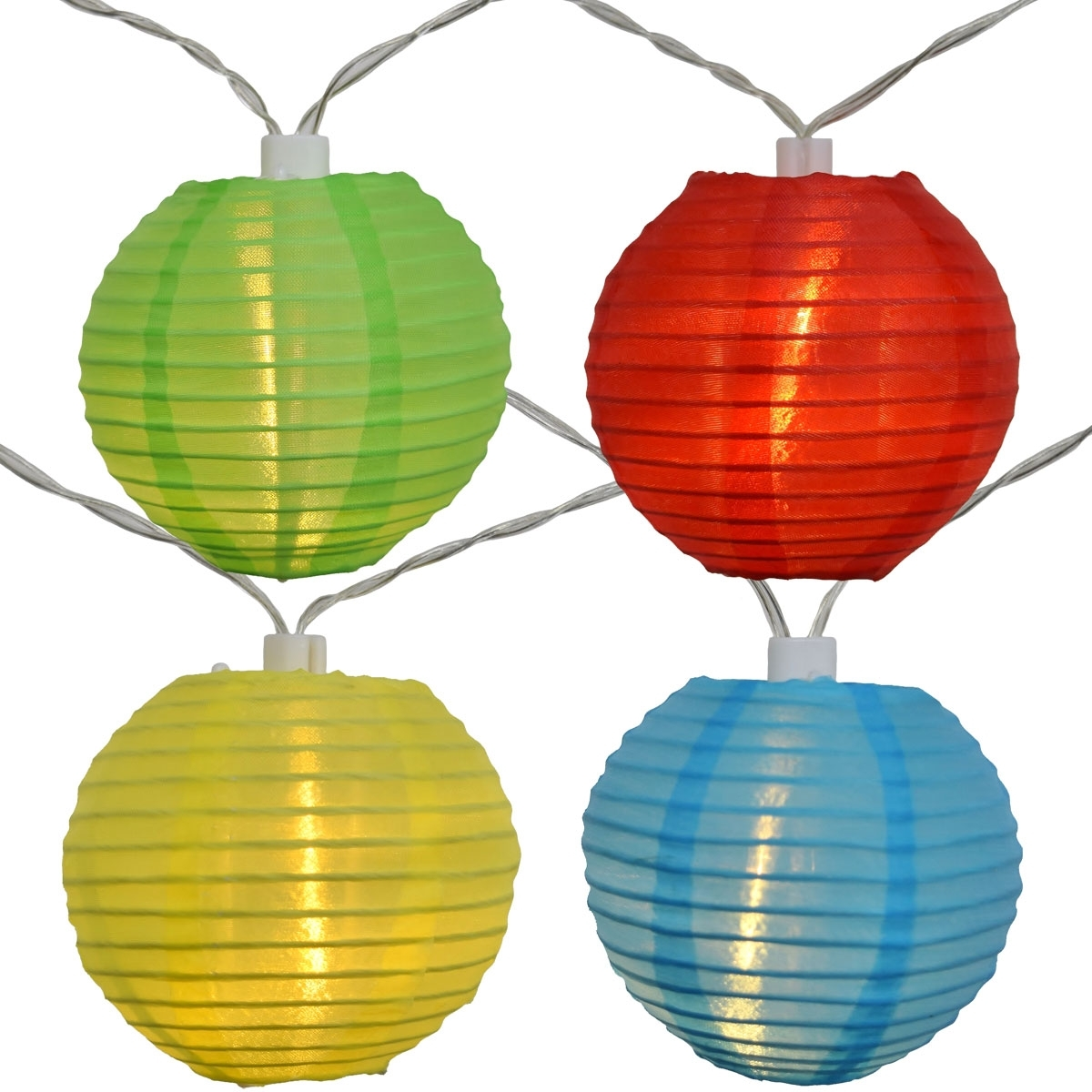 Recent Led Solar Powered Multi Colored Nylon Lantern String Lights Throughout Colorful Outdoor Lanterns (View 15 of 20)