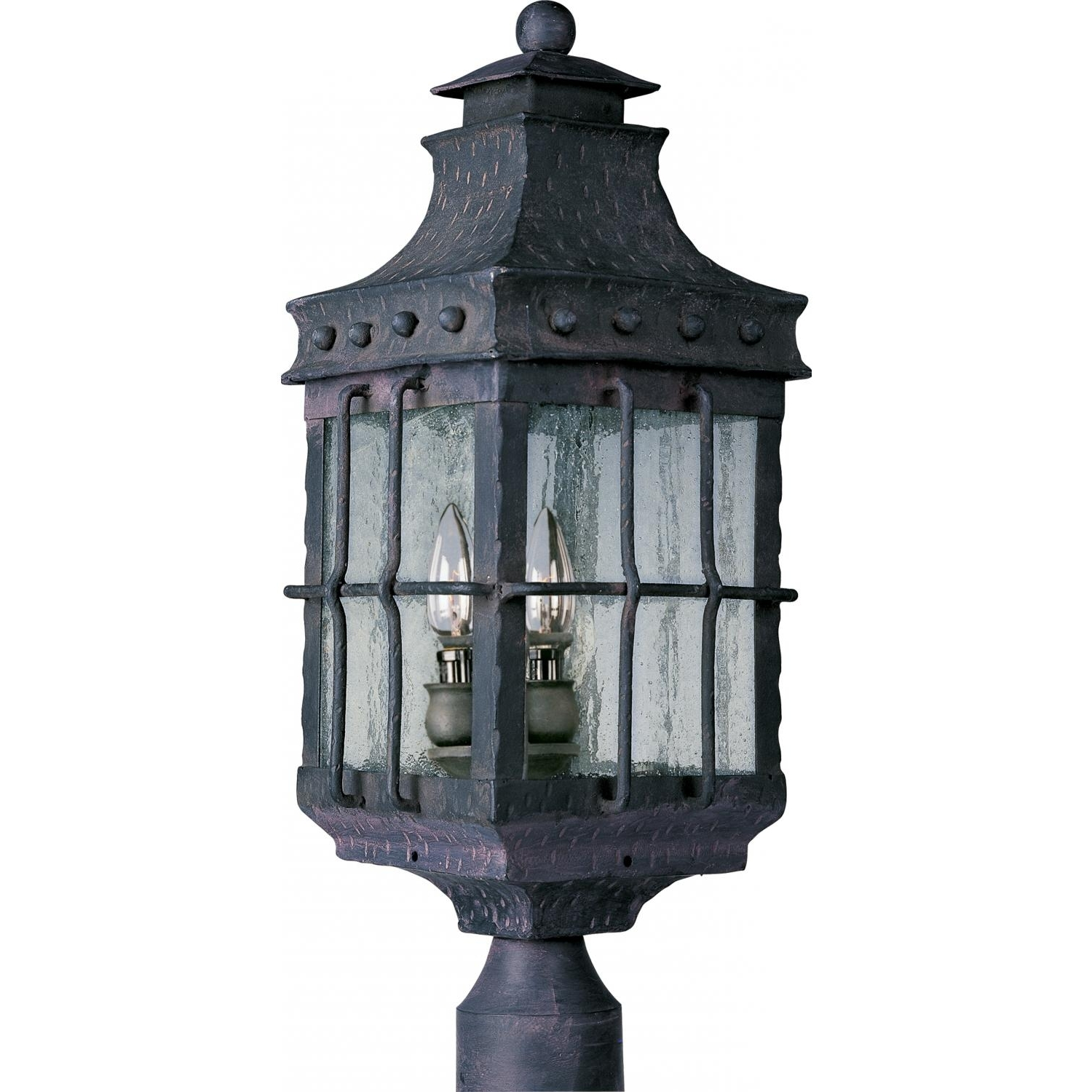 Recent Maxim Nantucket Three Light 22 Inch Outdoor Post Light – Country Regarding Nantucket Outdoor Lanterns (View 11 of 20)