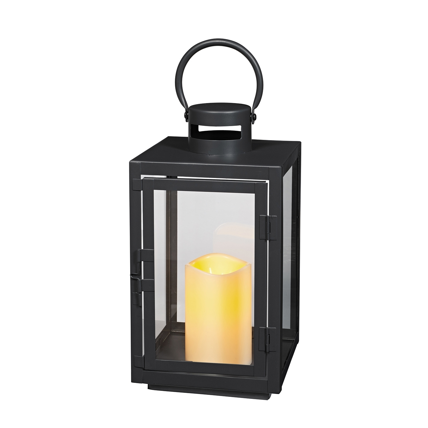 Recent Outdoor Lanterns With Flameless Candles In Lights4Fun, Inc.: Black Metal Battery Operated Outdoor Led Flameless (Gallery 17 of 20)