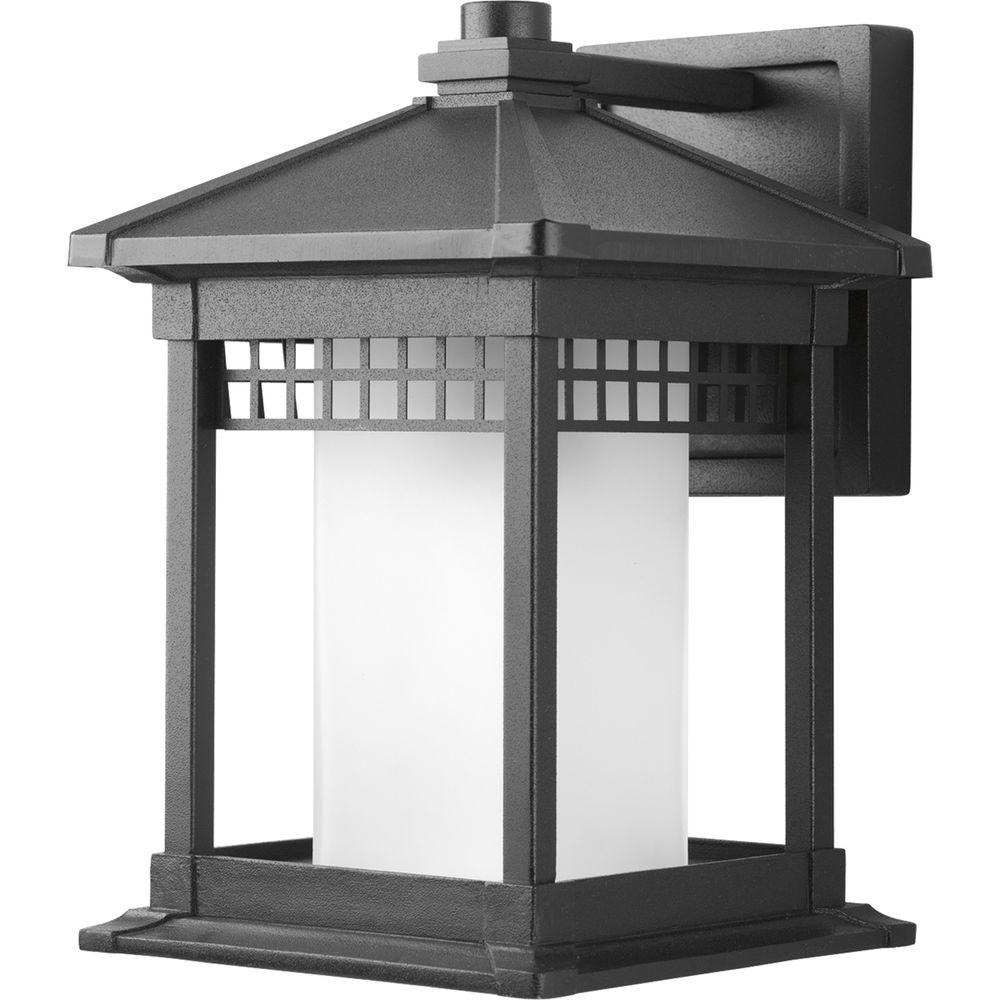 Recent Progress Lighting Merit Collection 1 Light Medium Outdoor Black Wall With Outdoor Gazebo Lanterns (View 14 of 20)